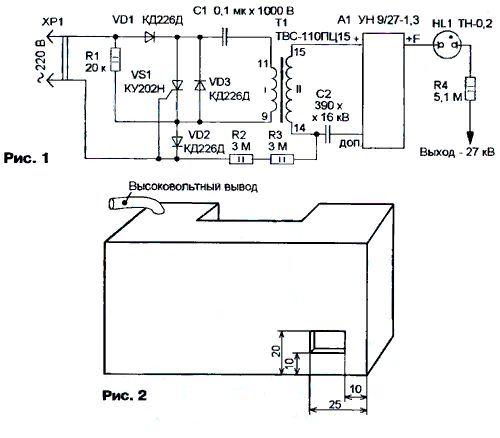 Схема блока питания ионизатора